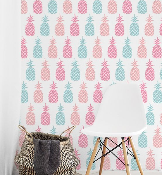 WALLPAPER Wall Mural Kids Living Style Category Pineapple Pattern Picture Per Square Meter