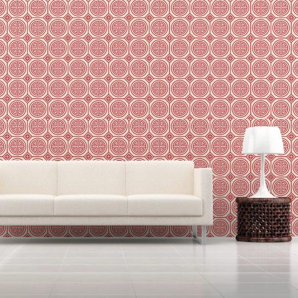 """WALLPAPER Wall Mural Oriental Style Category """"Oriental Style Purple ..."""