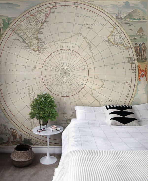 WALLPAPER Wall Mural World map Style Category Map Picture Per