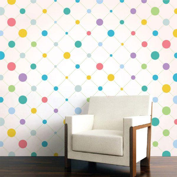 Wallpaper Wall Mural Dot Pattern Category Colourful Dot Pattern